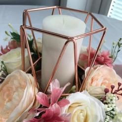 rose-gold-geometric-flower-centrepiece