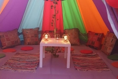 4 Metre Rainbow Bell Tent Hire