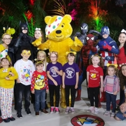PUDSEY PARTY CHILDREN IN NEED AT THE PALM HOUSE