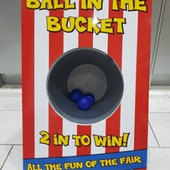 BALL IN THE BUCKET FETE GAME